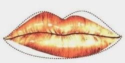 Desenho esquemático de uma assimetria labial